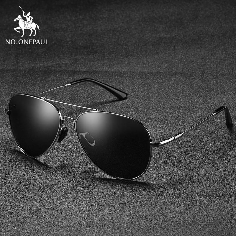 NO.ONEPAUL Leg Alloy Men Sunglasses Polarized Brand Design Pilot Male Sun Glasses Driving Metail Frame Quality Oversized Spring