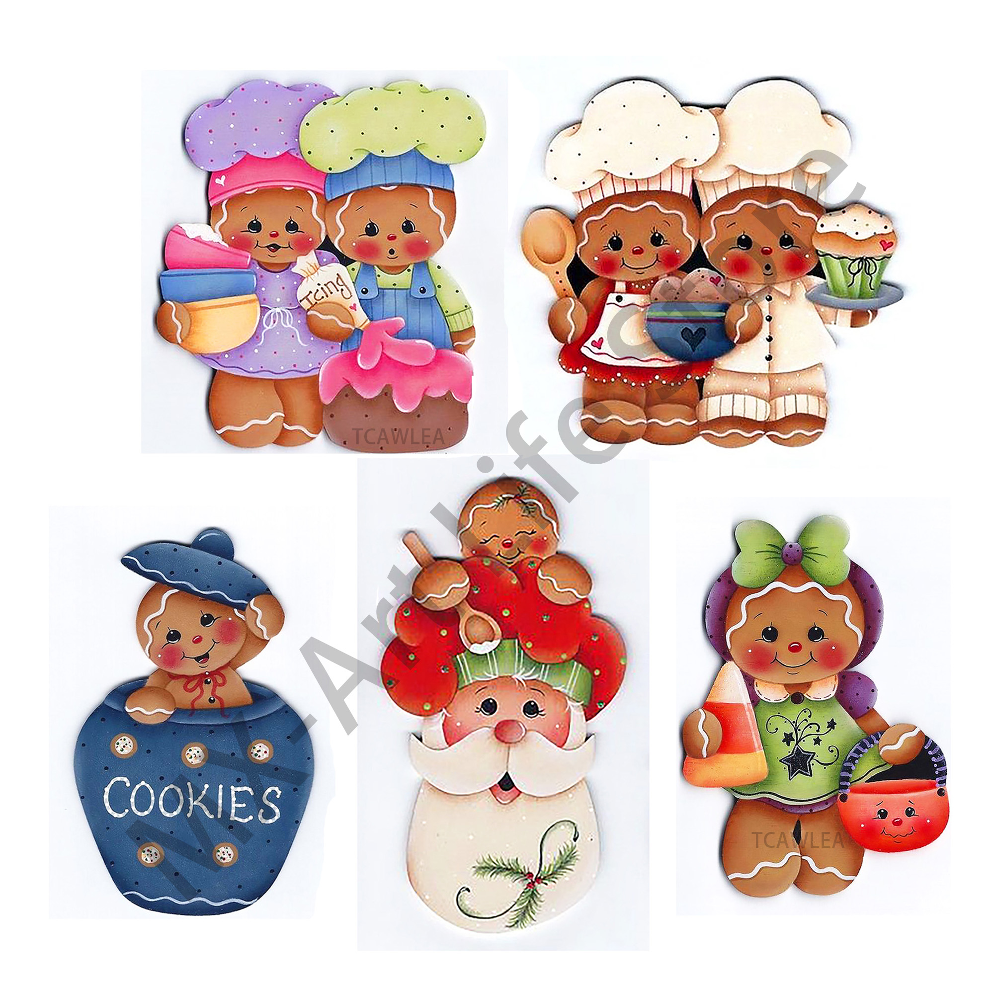 2020 Lovely Gingerbread Boy Girl Cutting Dies Christmas Gingerbread Man Baby Doll Stencil For DIY Scrapbooking Craft Cards
