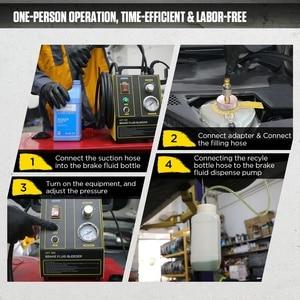 Image 3 - AUTOOL مبدل تعبئة زيت فرامل السيارة ، آلة استخراج ، مضخة نقل نبضية كهربائية ، لتنظيف خط الأنابيب ، 220 فولت ، 110 فولت ، AST605
