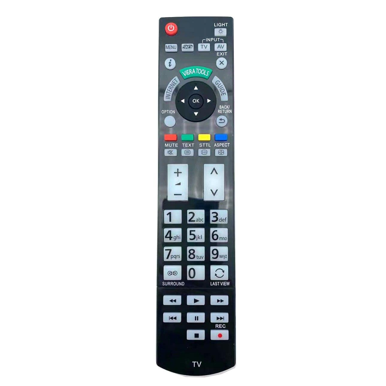 Замена Дистанционное Управление для цифрового фотоаппарата Panasonic N2QAYB000715 для TX-L42ETW50 TX-P50VT50B TX-P50ST30B LED 3D ТВ