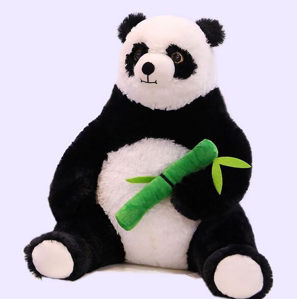 50cm Panda Hugging Bamboo Plush Toys for Children Soft Cartoon Animal Doll Kids Gift Girls Lovely Pillow