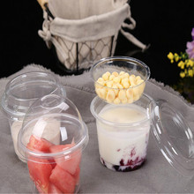milkshake cups plastic cups for desserts pudding cup ice cream cup takeaway food packaging disposable cups with lids die cast oil cup stand for watch repair w 5 cups