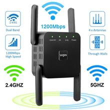Network Repeater Signal-Booster Wifi-Router Range-Extender Dual-Band Wi-Fi 300/1200mbps