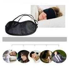 Unisex moda taşınabilir elastik bandaj göz maskesi yumuşak sevimli göz yardım seyahat dinlenme Relax göz kapağı uyku maskesi havacılık uyku maske