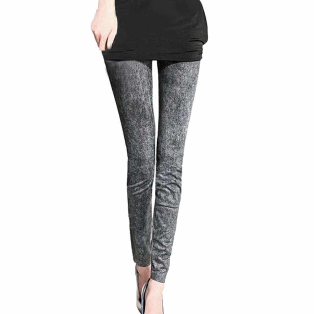 Mujer Jeans Mujer copo de nieve flaca Casual alta cintura Pencial Jeans estiramiento Sexy Pantalones suaves medias Calca Jeans Feminina