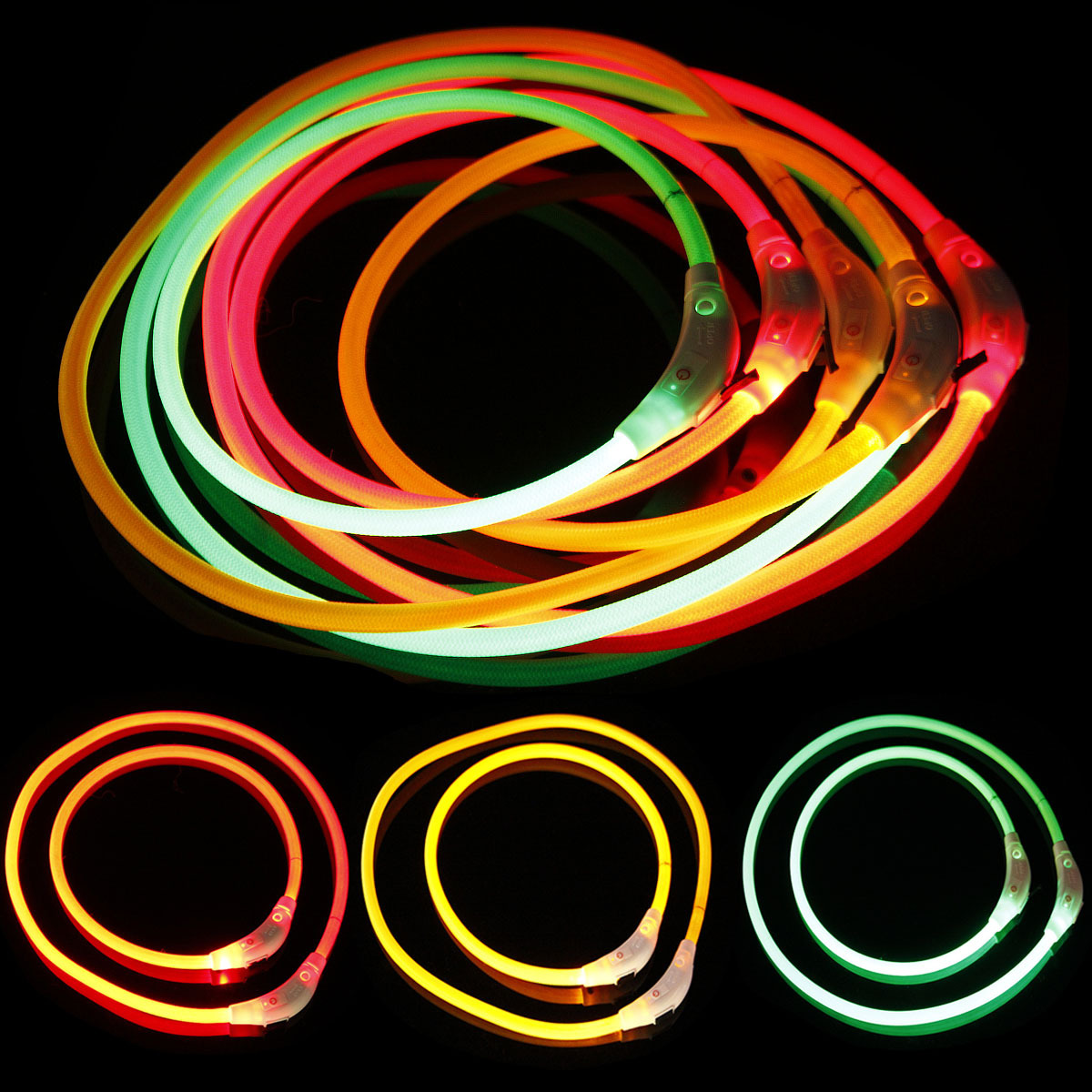 USB Charging Dog Collar LED Glowing Dog Collar Pet Collar Hot Selling