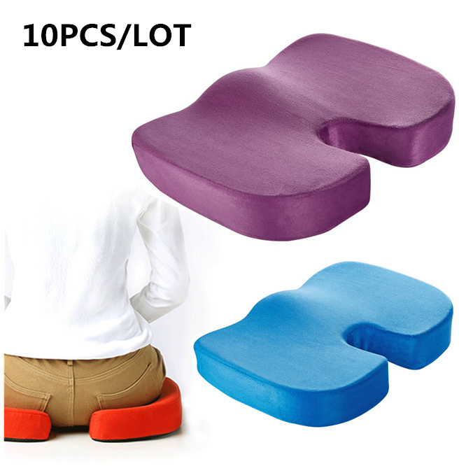 10PCS Orthopedic Memory Foam Seat Cushion Helps With Sciatica Back Pain For Office Home Travel Chair Breathable Cushion