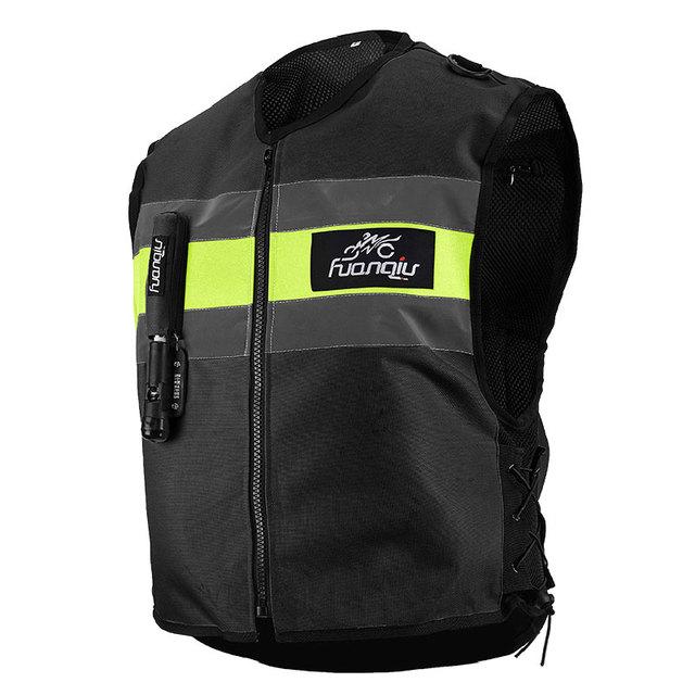 Motorcycle zipper Air-bag Vest Moto Racing Professional Advanced Air Bag system motocross protective airbag BLACK, M