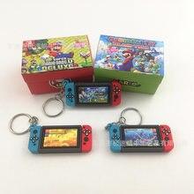 Llaveros de consola Nintendo Switch, creativo, modelo de consola de juegos de goma blanda de PVC, llaveros, bolsa de moda, colgante de decoración