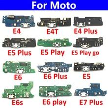 10Pcs/Lot, USB Charging Port Board Flex Cable Connector For Motorola Moto E4 E4T E4 E6 E7 Plus E5 Play Go E6s Microphone Board