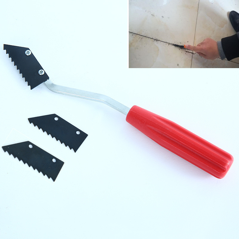 Tile Floor Gap Cleaning Knife Slotting Alloy Steel Floor Grouting Tool For Wall Tiles Ceramic Gap Cleaning Construction Tools