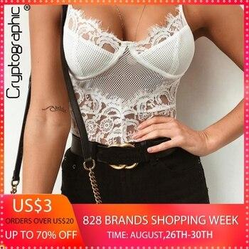 57df806edd72 Leotardo de encaje de malla de moda criptográfico sexy body mujer ...