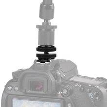 Camera 1/4 Dual Layer Flash Hot Shoe Mount For Camera Canon/Nikon/Sony DSLR Photo Studio Accessories