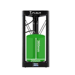Image 4 - Flsun QQ S PRO impressora 3d pré montado delta kossel tela de toque módulo wifi grande tamanho de impressão 255*255*360mm