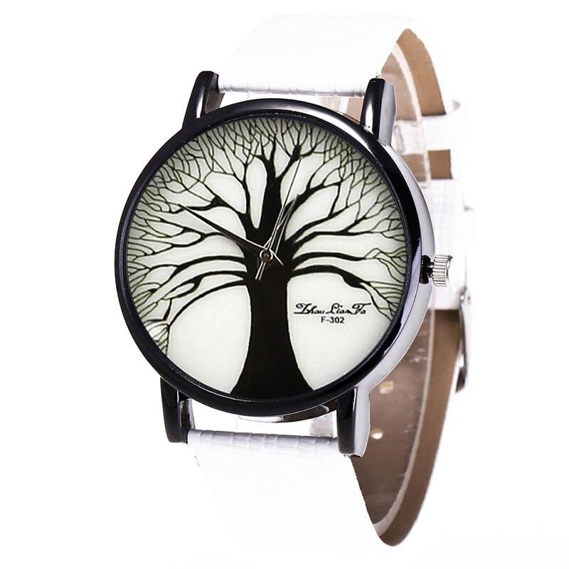 Fashion Quartz Watch Mens Women Couple Electronic Watch Tree With PU Wrist Strap LXH