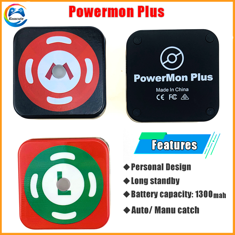 2020 New Auto Powermon For Pokemon Go Plus Bluetooth Device With Rechargeable Battery 1300mah Auto Catch Adjust For Pokemongo