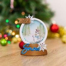 Красивый Рождественский хрустальный шар, металлический вырубной штамп, сделай сам, скрапбукинг, бумажный трафарет для открыток, шаблон для тиснения, вырубные штампы