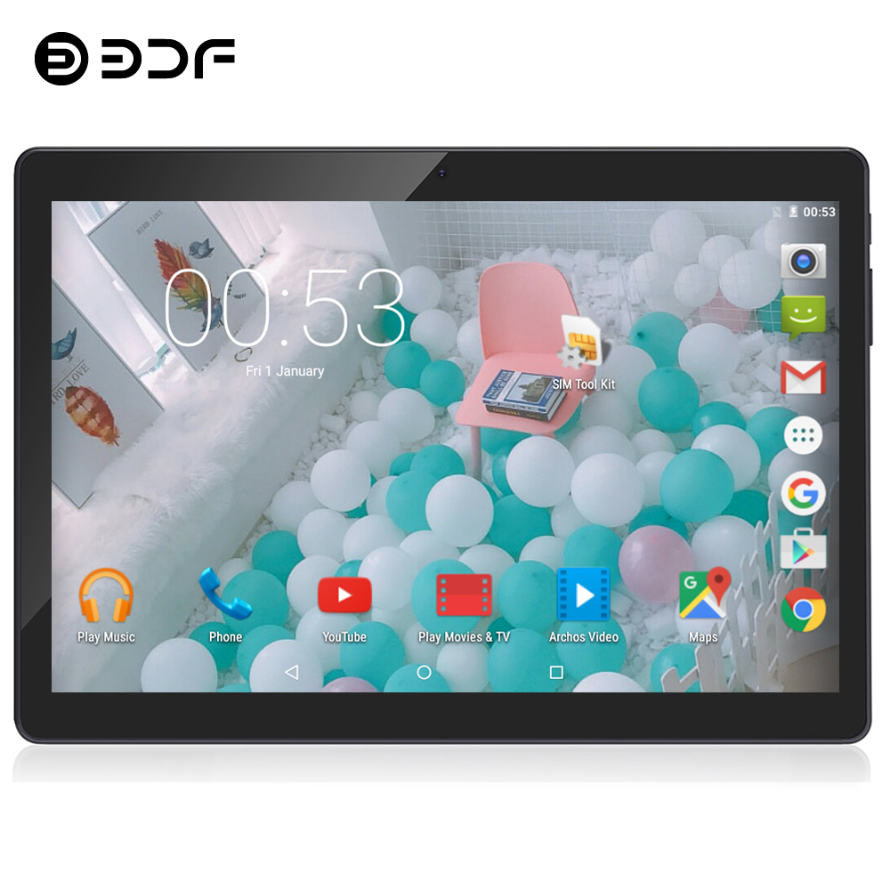 BDF 10 Inch Original 3G Phone Call Tablets Android 7.0 Quad Core CE Brand Laptop WiFi Android Tablet Pc 1GB+32GB Pc Tablet 10.1