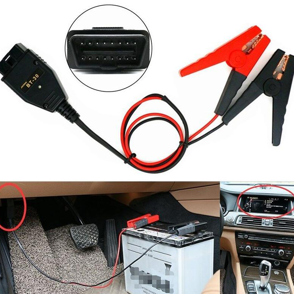 High Quality OBD2 OBDII Car Auto ECU Memory Saver Emergency Power Supply Battery Clips