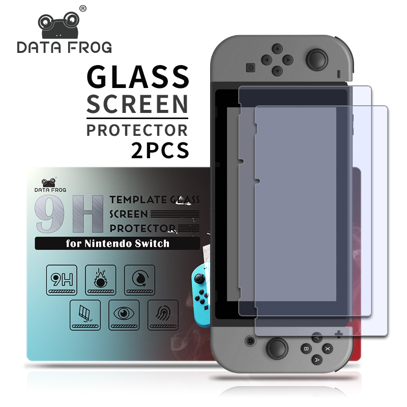 DATA FROG 9H Tempered Glass Screen Protector For Nintendo Switch Protective Film Cover For Nintend Switch Lite NS Accessories(China)