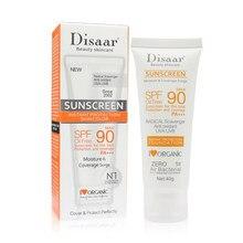 Disaar corpo facial protetor solar clareamento sol creme protetor solar pele anti-envelhecimento óleo-controle hidratante spf 90 tslm1