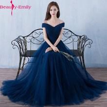 Schönheit Emily Elegante Backless Lange Royal Blue Abendkleider 2020 Spitze Up Party Maxi Kleid Formale Prom Party Kleider