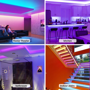 LED Strip Light RGB 5050 Lights  Music Sync Color Changing Built-in Mic, App Controlled LED Lights Rope Lights 5M 10M 20M 5
