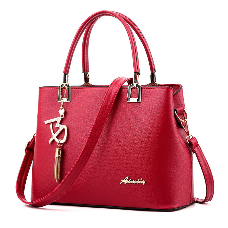 Women Bag Shoulder Handbag Women Vintage Messenger Bags Fashion Luxury Top-Handle Composite Bag Purse Wallet Leather 4