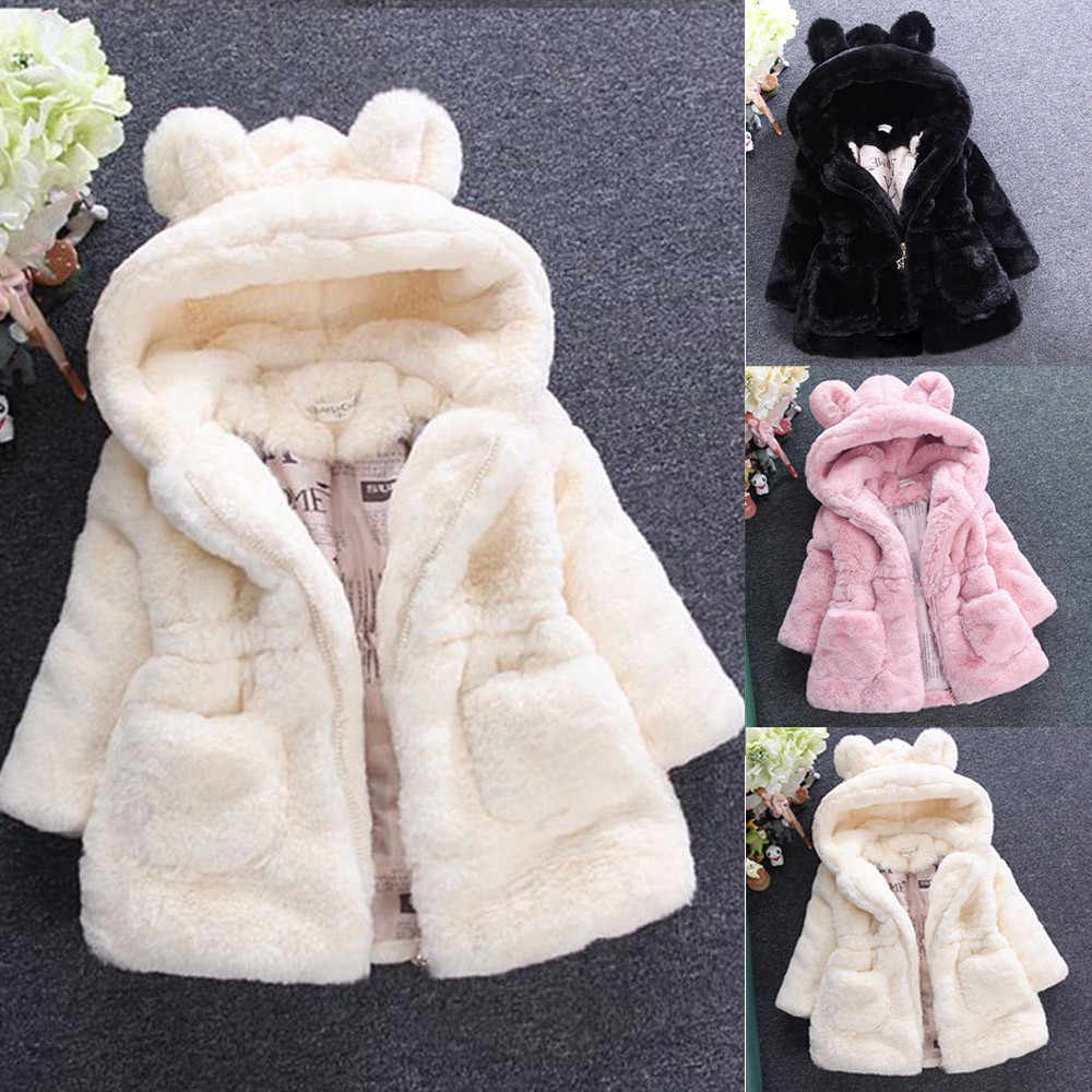 baby girl winter coat 2020 Baby Infant Girls Autumn Winter Hooded Coat Cloak Jacket Thick Warm Clothes Outerwear for girl