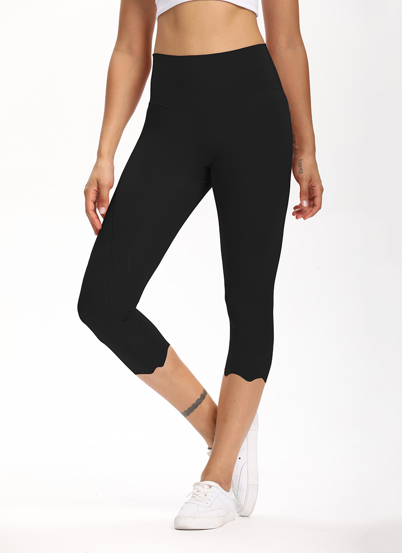 H731c0aee01404bd7a1cd4f64099f0787J Cardism High Waist Sport Pants Women Yoga Sports Gym Sexy Leggings For Fitness Joggers Push Up Women Calf Length Pants Wave
