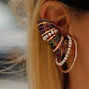 Image 2 - GODKI 1PC Famous Design Ear Bone Cuff Earring For Women Full Mirco Paved Micro Zircon Wedding Earring Fashion Jewelry 2020
