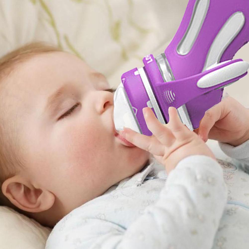 Детские принадлежности термоиндукционная цветная бутылка высокого боросиликатного стекла смарт анти падение PP бутылка младенческой кормления безопасный