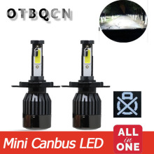 Mini Car Headlight Canbus LED H4  H7 D2S All In one Automobile Lamp H1 H11 9005 HB3 9006 6500K 13000LM 12V Auto Bulbs Fog Light 2pcs led headlight 72w kit 16000lm kit h4 high low beam h7 9005 9006 hb4 cob s2 auto car light all in one automobile lamp 6500k