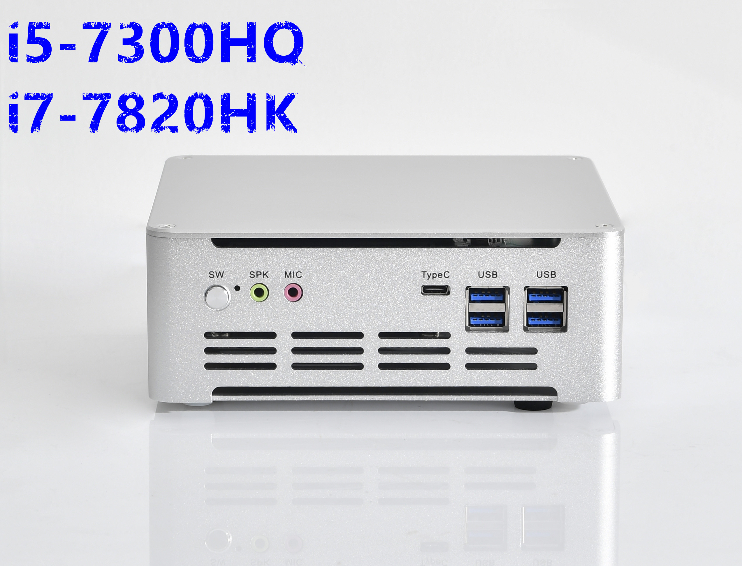 HYSTOU newest Mini Gaming PC Quad Core Intel <font><b>i5</b></font> <font><b>7300HQ</b></font> i7 7820HK Type-C DP HDMI 4k Thin Client Micro Computer image