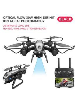 Control remoto Drone 2,4 GHz plegable Quadcopter posicionamiento de flujo óptico avión 4K Cámara FPV RC Drone juguete con luz LED # Y2