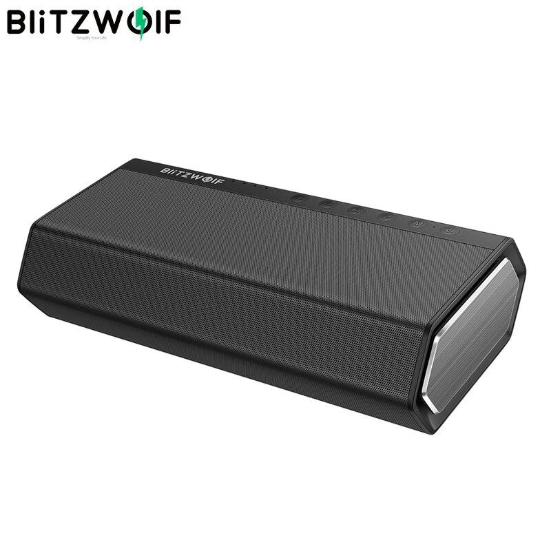 BlitzWolf BW AS2 40 Вт 5200 мАч двойной драйвер беспроводной bluetooth динамик 30 Вт сабвуфер вверх бас Hands free Aux in динамик Саундбар
