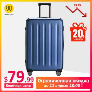 Suitcase Spinner-Wheel Rolling-Luggage Tsa-Lock Carry Travel Ninetygo 90fun Women Lightweight