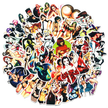 50Pcs/set Evil Beauty Sexy Girls Stickers for Laptop Car Scrapbooking Phone Motorcycle Luggage Decal Toys Children PVC Gift
