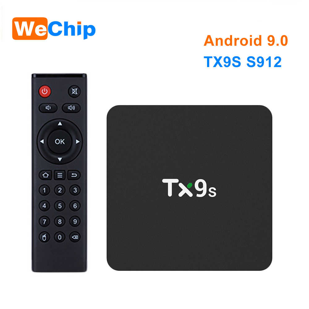 TX9S Smart Android 9.0 TV Box Amlogic S912 Octa Core Mali-T820MP3 GPU 2GB DDR3 8GB 2.4G Wifi set Top Box 4K HD Box Media Player