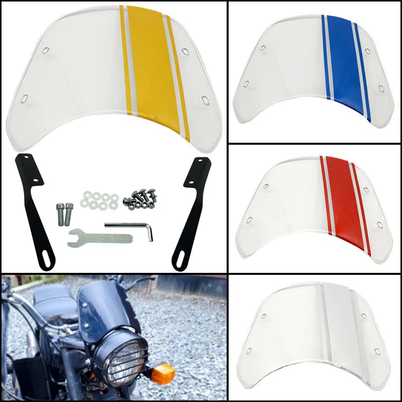 Color sticker motorcycle transparent windshield suitable for Harley Honda Chuanqi Suzuki Yamaha 6.5