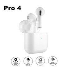 Pro 4 fones de ouvido bluetooth tws hd chamada sem fio fones música alta fidelidade esportes runing fone para todo o telefone inteligente
