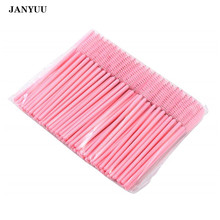 1000PCS/lot Wholesale Pink Eyelashes Brush Disposable Micro Makeup Brushes Eye Lashes Cosmetic Brush Mascara Wands Makeup Tools