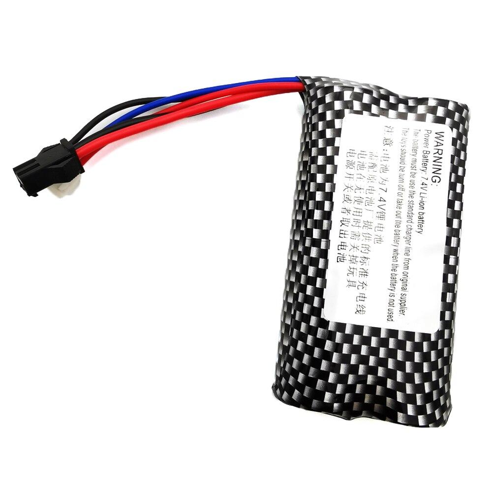 2PCS 7.4v 1000mah Lipo Battery For WPL B1 B16 B24 B36 C1 C24 C34 JJRC Q60 Q61 Q65 MN 90 RC Car Parts