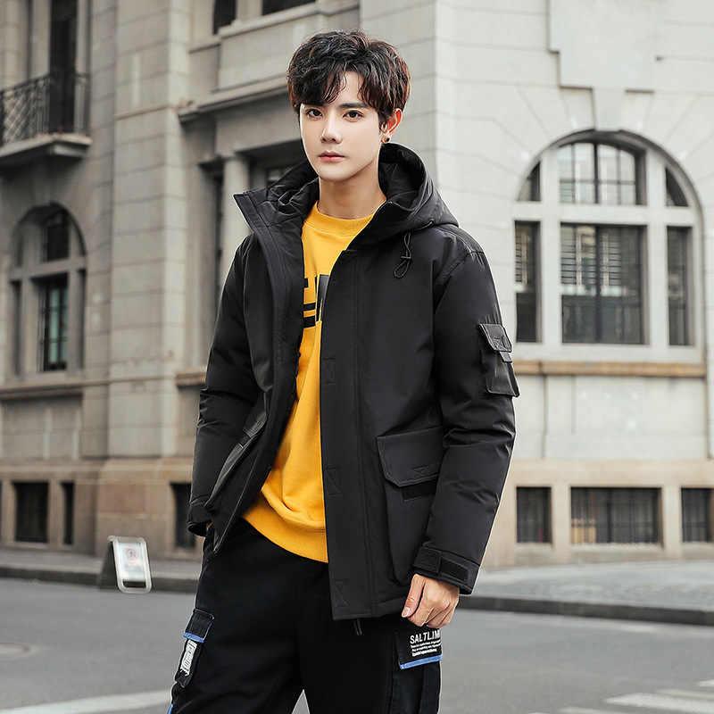 Weiße Ente Unten Jacke Männer Koreanische Winter Mantel Männer Puffer Jacke Männer Unten Mantel Warme Parka Abrigo LWKS-ZC YY1471