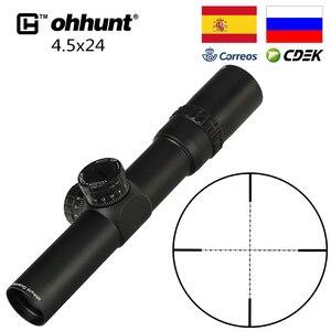 Image 2 - Ohhunt الجارديان 4.5x24 الصيد بندقية نطاق 30 مللي متر أنبوب التكتيكية البصريات البصر 1/2 نصف ميل نقطة شبكاني الأبراج إعادة Riflescope