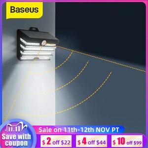 Baseus LED Solar Light Outdoor Solar Garden Lights Motion Sensor Wall Lamp Waterproof Solar Powered Garden Landscape Lawn Lamp