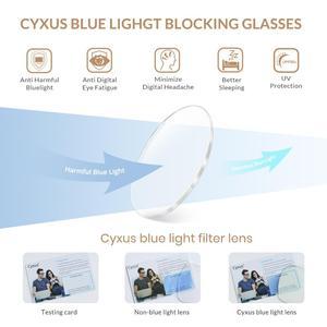 Image 2 - Cyxus Blue Light Blocking Computer Glasses  Anti UV Fatigue Headache Eyeglasses Clear Lens Gaming Eyewear for Mens Women  8082