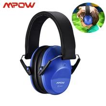 Mpow hp046 어린이 안전 귀 muffs 소음 감소 슈터 청력 보호 nrr 25db 어린이를위한 전문 소음 감소