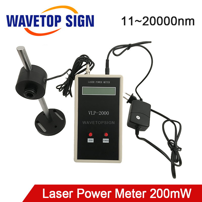 WaveTopSign Muti-Wave 11nm~20000nm CO2 Laser Tube Power Meter 200mW For Laser Engraving And Cutting Machine