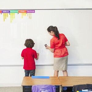 Image 4 - Kendinden yapışkanlı silinebilir beyaz tahta Sticker boyama yazı beyaz tahta öğretim çıkarılabilir duvar çıkartma çocuklar için bebek odası